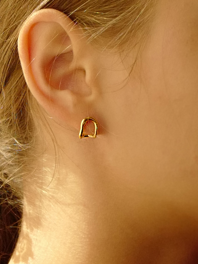 Melted Bend Earring