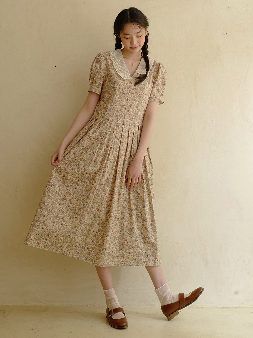 Ann Dress (Beige)